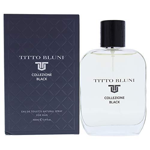Titto Bluni Eau de Toilette Colezione Black, 100 ml con vaporizador, colonia hombre
