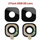 2 Pack Samsung Original OEM Back Rear Camera Glass Lens for for Samsung Galaxy S8 G950 / S8+ Plus G955 + Adhesive Tape