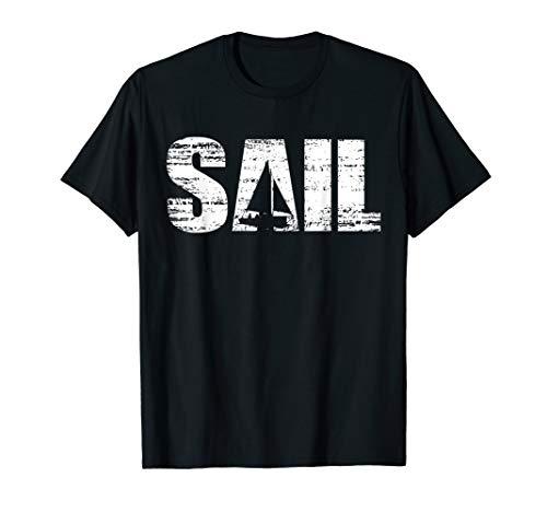 Retro Segeln T-Shirt im Distressed Look   Segler Geschenk