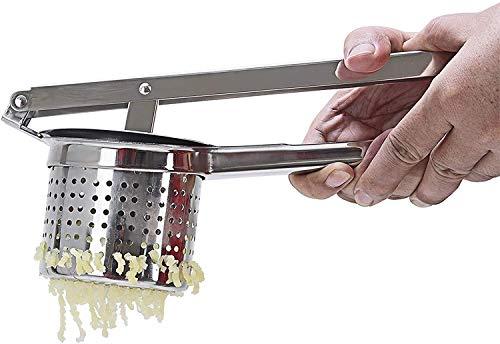 Schiacciapatate in acciaio inossidabile, per patate, purè e verdure, ideale anche come spremiagrumi per arance e limoni o per preparare pappe per i bambini