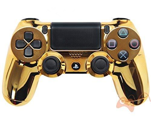 PS4 Custom UN-MODDED Controller Exklusive einzigartige Designs – mehrere Designs erhältlich CUH-ZCT2U (Chrom Gold)