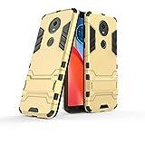 COOVY® Étui pour Motorola Moto E5 Plus Coque Antichoc 2X Couche de Plastique + Silicone TPU,...