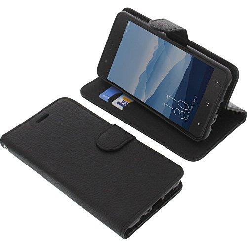 foto-kontor Tasche für Elephone P8 Mini Book Style schwarz Schutz Hülle Buch