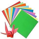 Origami - Set di 200 fogli di carta pieghevole per origami natalizi, per progetti artistici e artigianali (100 fogli 20 x 20 cm, 100 fogli 15 x 15 cm)