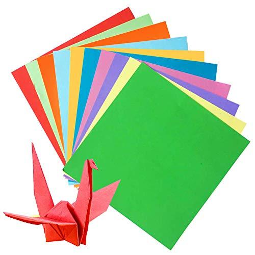 SIMUER Origami Set di Carta, 200 Fogli di Carta Pieghevole per Origami di Natale, Fai da Te, Arte e progetti Artigianali (100 Fogli, 20 x 20 cm, 100 Fogli, 15 x 15 cm)