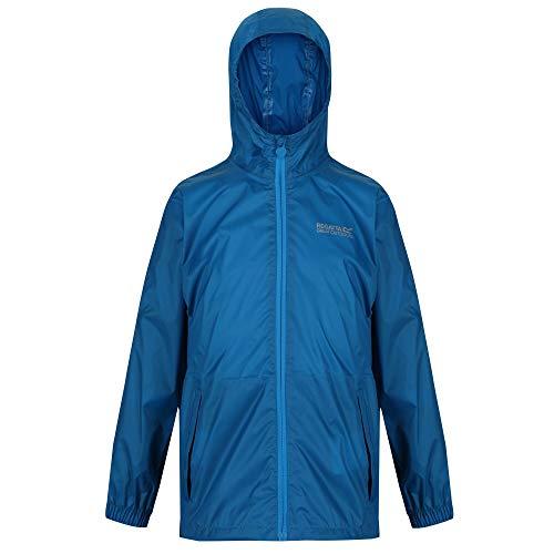 Regatta Ciré Technique et compactable Junior Pack-IT Jackets Waterproof Shell Mixte Enfant, Petrol Blue, FR : 3XL (Taille Fabricant : 13 YR)