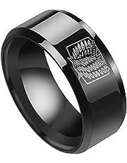 Ailin Online Anillo Attack on Titan Wings of Liberty, anillos de aleación con emblema de la Legión Scouting para uso diario y cosplay