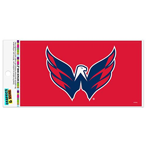 Graphics and More NHL Washington Capitals Logo Automotive Car Refrigerator Locker Vinyl Magnet