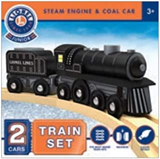 MasterPieces Lionel Collector's Steam Engine & Coal Car Real Wood Toy Train Set