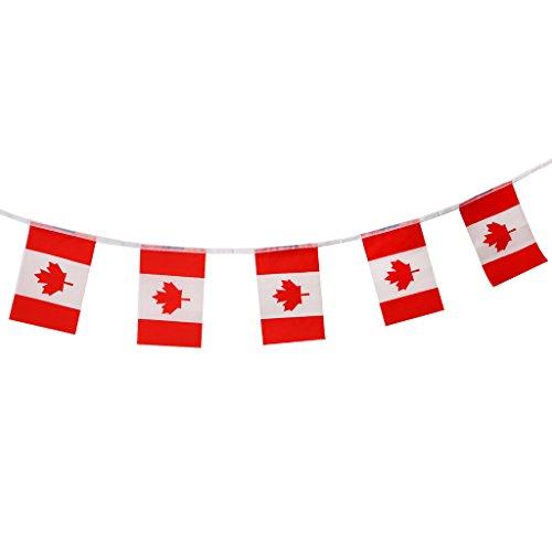 Baoblaze 2018 Flaggenkette Wimpelkette - Kanada