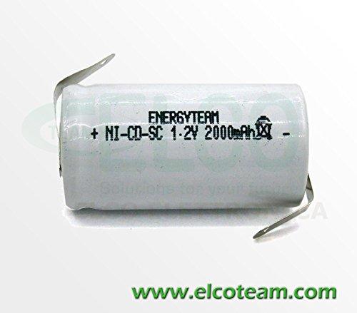 Batteria sub-mezza torcia SC 2.0Ah Ni-Cd Energyteam lamella a saldare