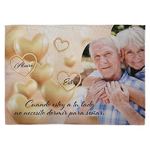 LolaPix Manta Fotografia Personalizada. Regalos San Valentin Personalizados. 75X105. Varios Diseños. Mantas Personalizadas por 1 Cara. Manta Suave Dream