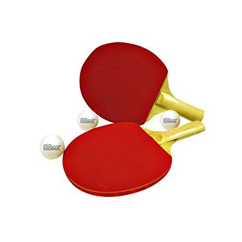 Set de 2 Palas de Ping Pong con 3 Pelotas