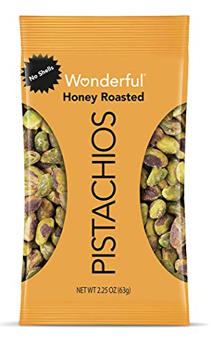 8-Pack Wonderful Pistachios, No Shells, Honey Roasted, 2.25 Ounce Bags - $10.03 @ Amazon with S&S