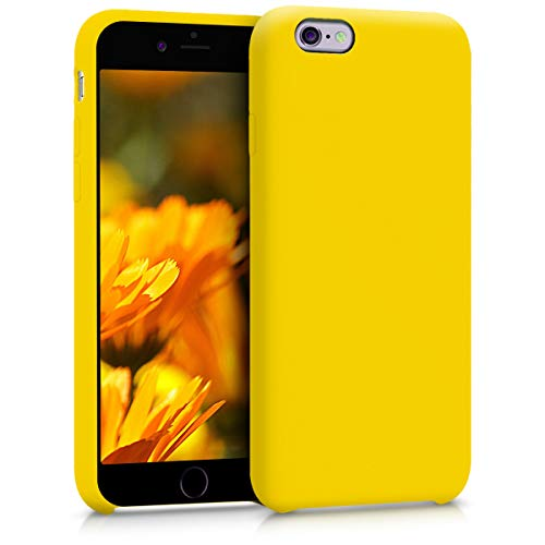 kwmobile Apple iPhone 6 / 6S Cover - Custodia per Apple iPhone 6 / 6S in Silicone TPU - Back Case Cellulare Giallo Acceso
