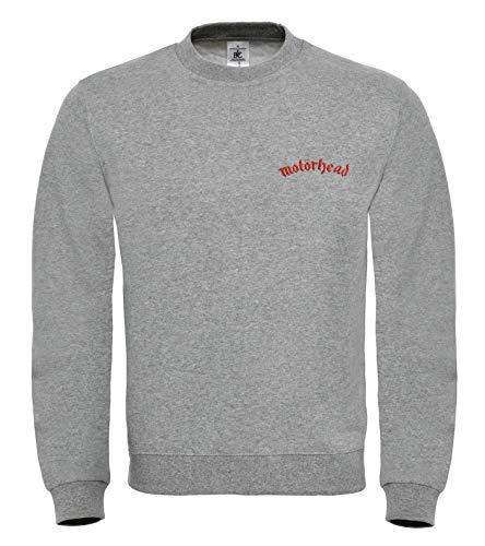 Motörhead Punk Rock Metall Music Fun Bestickte Logo Sweatshirt Premium Qualität - 6159 - GRAU (L)