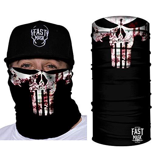 Fast Mask Neck Gaiter Super Hero Design Tubular Face Mask Polyester Microfiber (Punisher)