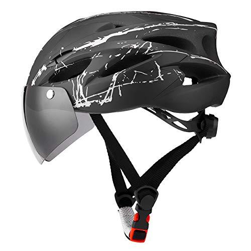 Casco de Bicicleta CXL para Montar al Aire Libre Gafas magnéticas Casco Bicicleta de montaña Casco de conducción cómodo y Seguro
