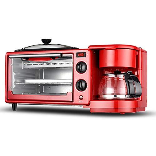JUNJP Breakfast Machine Home - Máquina de café de Horno multifunción Tres en uno, Control de Temperatura Ajustable, Adecuada para Pizza, alitas de Pollo, Pan agrio