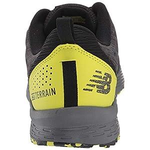 New Balance Men's Nitrel V3 Trail Running Shoe, Black/Yellow, 11.5 D US