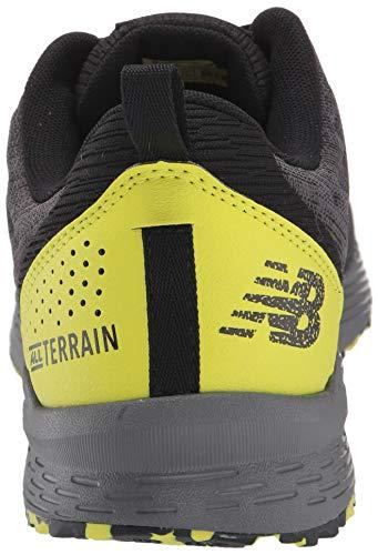 New Balance Men's Nitrel V3 Trail Running Shoe, Black/Yellow, 11 D US 6