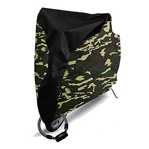 Bclaer72 Wasserdichte Fahrradabdeckung, Fahrrad-Abdeckung, UV-Schutz, für Outdoor, Fahrrad, Staub, Winddicht, S-XL, Middle Black+camouflage, S