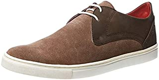 TONI ROSSI Men's Ace Brown Leather Casual Sneakers