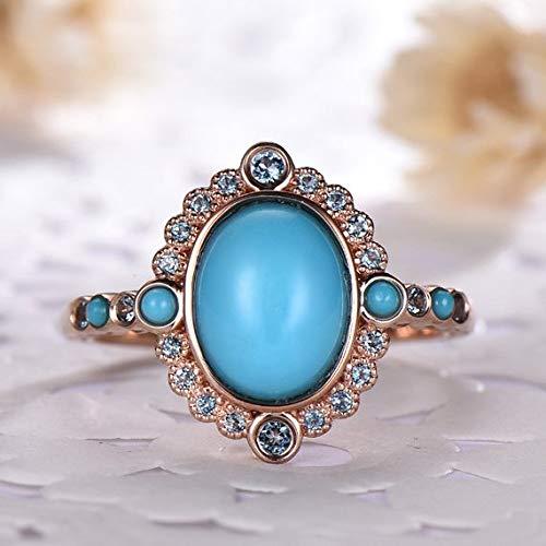 Authentic Vintage BLUE TOPAZ Gemstone Sterling SILVER 925 Art Deco Ring Wedding Birthday Promise Friendship Free Postage. Engagement