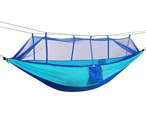 ODODDE Hamac De Camping Portable, Tissu Parachute avec Hamac Moustiques Camping Filet, Sac À Dos Adapté pour Voyage De Camping