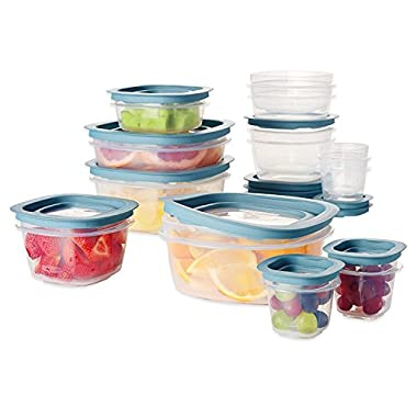 Rubbermaid Premier 26 Piece Crystal Clear Stain Resistant Durable Shatter Resistant Set