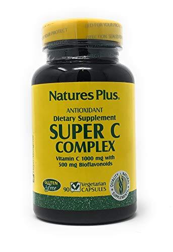 Natures Plus Super C Complex 1000mg w/500mg Bioflavonoids (2 Caps) 90 veg. Kapseln