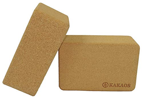 Kakaos 4 Inch Cork Yoga Block