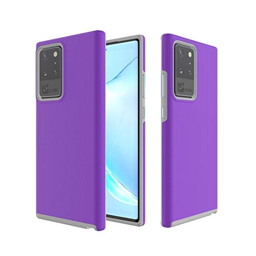 BAIYUNLONG Funda Protectora, for Samsung Galaxy Note 20 Armadura Antideslizante TPU + PC Funda Protectora (Color : Purple)