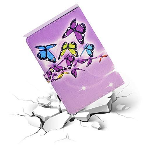 CaseFun Hülle für Samsung Galaxy Tab A 10.1 2019 Schutzhülle Flip Stand Cover mit Auto Schlaf/Wach Funktion für Galaxy Tab A 10.1 2019 SM-T510/SM-T515, Schmetterling