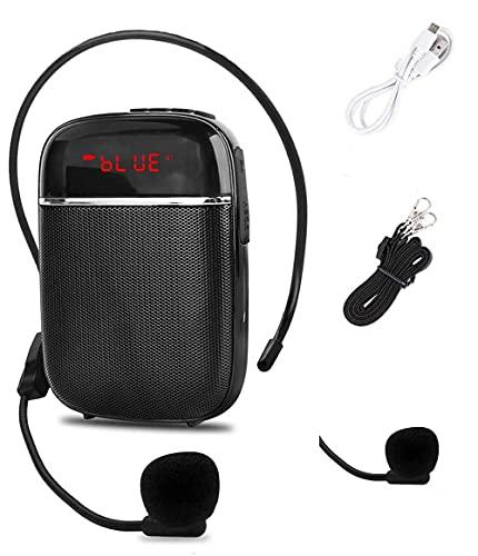 Amplificatore vocale Bluetooth portatile, mini altoparlante cablato ricaricabile con microfono, per insegnanti, guide turistiche, pullman e altro.