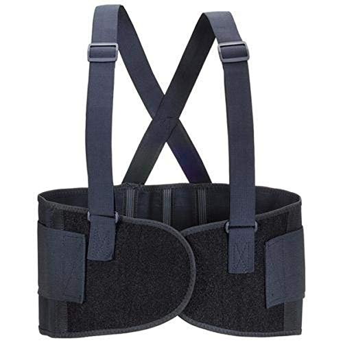 Valeo Industrial VEH9 Heavy-Duty 9' Back Support Elastic Belt, VI4676, Black, XL