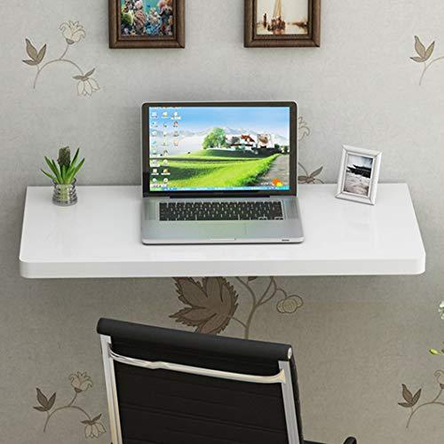 SYTH Mesa de Comedor Plegable de Pared de Madera Maciza Drop Leaf Escritorio de Estudio de computadora Marco de Soporte montado en la Pared Soporte para Laptop Tamaño Opcional