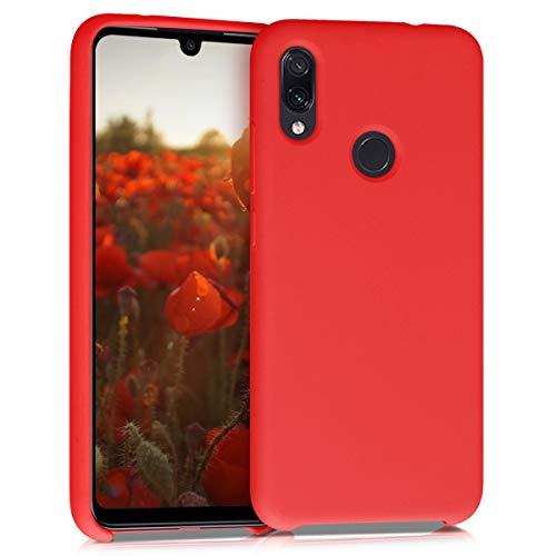 kwmobile Funda Compatible con Xiaomi Redmi Note 7 / Note 7 Pro - Carcasa de TPU para móvil - Cover Trasero en Rojo Mate