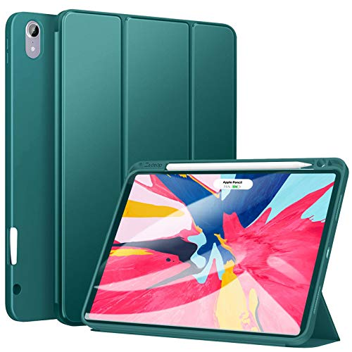 Ztotop Case for iPad Pro 11 Inch 2018, Full Body Protective Rugged Shockproof Case with Pencil Holder, Auto Sleep/Wake, Support Pencil Charging & Pair for New iPad Pro 11 Inch - Green