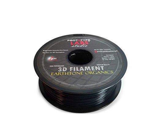 3D Printing Filament PLA for DIY Maker 3D Printers - Non-Toxic no Fumes Biodegradable polylactide thermoplastic Spool 1.75mm Best Quality 3D Plastic Professional Extrusion Material (1kg, Coal Black)