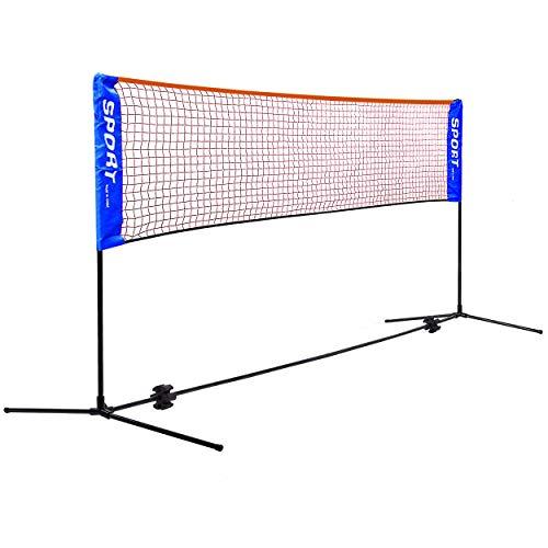 Rxakudedo バドミントン用ネット テニスネット テニス練習用ポータブルネット 折り畳み 簡単組み立て 幅310cm 高さ(86~150)cm調整可能 子供も使え 収納袋付き 屋内 屋外 持ち運び どこでも