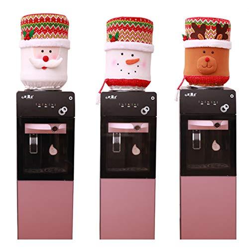 Aramomo Kerstmis Handgemaakte waterkruik flessen Cover Protector voor 3 Gallon fles waterkoeler Dispenser,9.8 x14.5 inch Elk