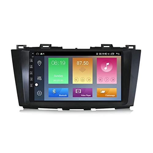 YLCCC Coche Estéreo Sat Nav Adecuado para MAZDA5 2010-2015 GPS Unidad de Cabeza estéreo GPS Toque Capacitivo HD Carplay Radio Multimedia Multimedia Radio Incorporado Tracker,4Core WiFi:2+32G