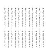 FORMIZON Juego de 24 Espiral de Viento Plateado Reflectante, 30 cm Varillas Reflectantes Repelentes de Pájaros Espiral de Viento Plateado Reflectante para Control de Aves
