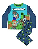 Conjunto de Pijama Azul de Manga Larga para niño Steve and Creeper de Minecraft