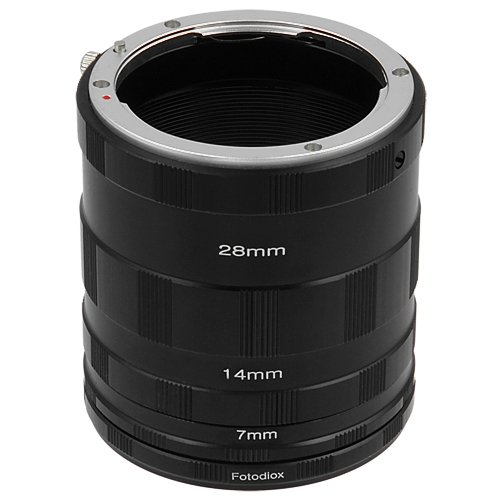 Fotodiox Macro Extension Tube Set Compatible with Nikon F Mount Cameras for Extreme Close-up Photography