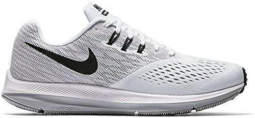 Nike Mens Zoom Winflo 4 Running schuhe Weiß schwarz Wolf grau
