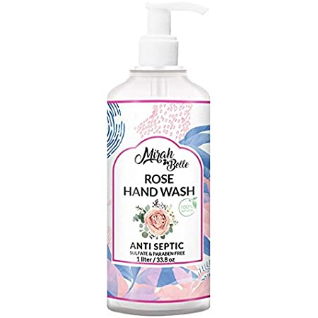 Mirah Belle - Rose Hand Wash (1 LTR) - FDA Approved - Bulk Pack for Refill - Best for Men, Women and Family - Sulfate and Paraben Free - 1000 ML
