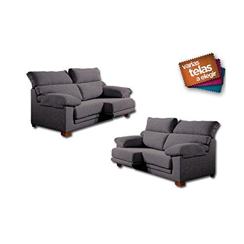 SHIITO Conjunto de sofás de Tres y Dos plazas con Asientos deslizantes y Cabezales abatibles
