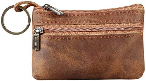 Genuine Leather Mens Tray Purses Coin Purse Cash Change Wallet Key Holder Money Pouch(HBZ01-G)